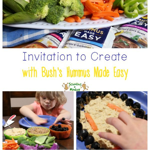 Want to encourage your kids to eat more veggies? There is no easier way than with a Hummus Made Easy invitation to create! #ad