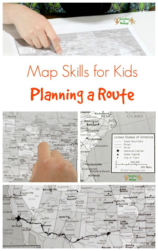Map Skills for Kids: Planning a Route on a Map