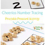 Cheerios Number Tracing Preschool Activity