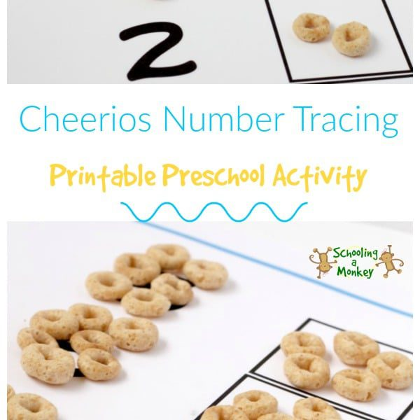 Cheerios Number Tracing Preschool Activity