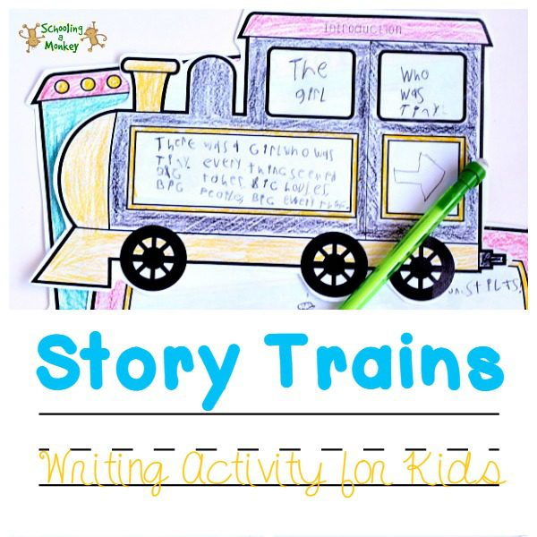 Elementary language arts have never been as fun or memorable as with these hands-on language arts story trains teaching the elements of a plot.