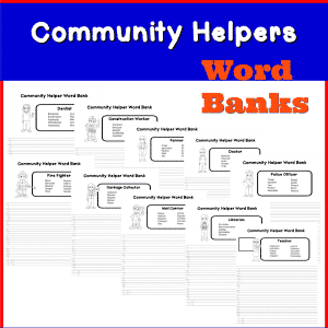 community helpers word bank square
