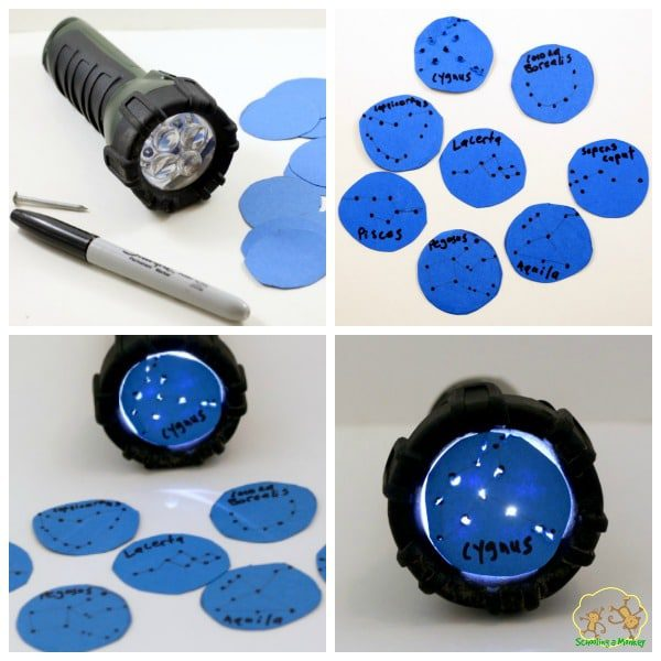 Flashlight constellations are a fun way to learn about the sky.