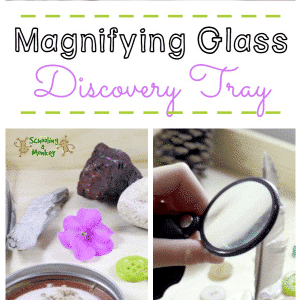 Magnifying Glass Discovery Tray