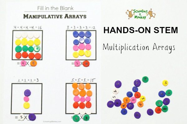 Manipulative Multiplication Arrays Worksheet