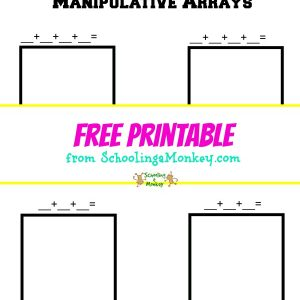 Solidify multiplication facts by using this multiplication arrays printable. This worksheet teaches multiplication in a visual, hands-on way.