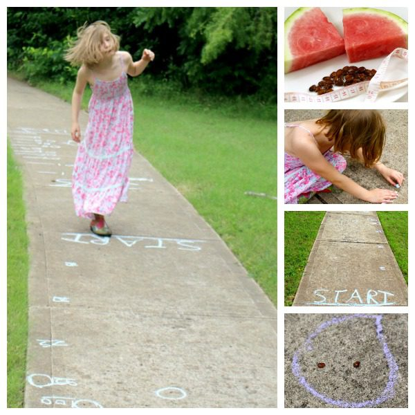 Kids bored of textbooks? Make math fun with this simple watermelon seed spitting measurement game that brings math to life in the great outdoors.
