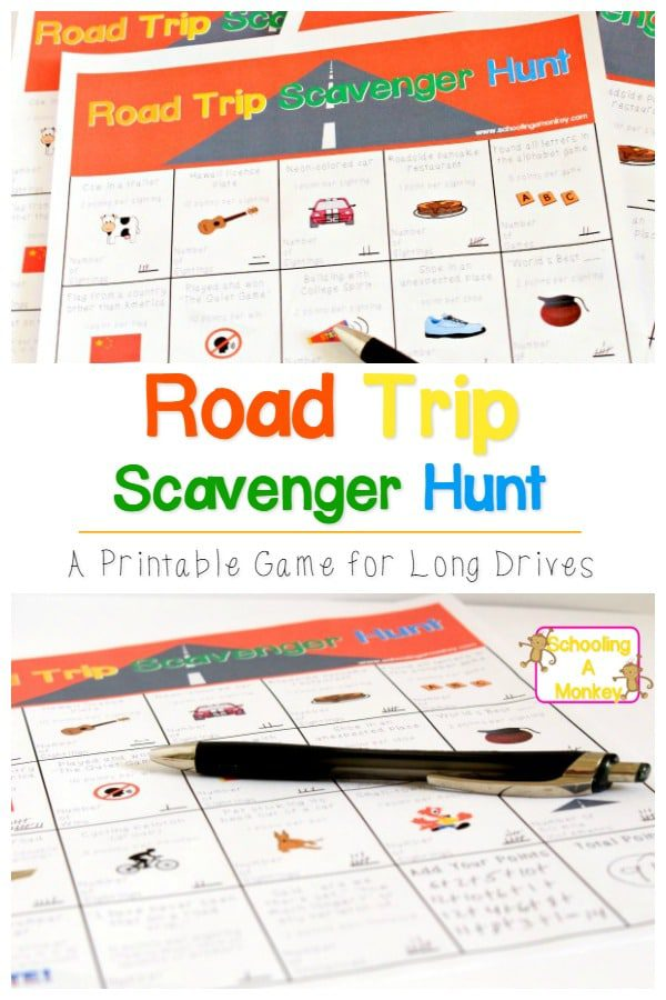 image regarding Road Trip Scavenger Hunt Printable named Game titles in direction of Participate in inside the Vehicle: Highway Getaway Scavenger Hunt