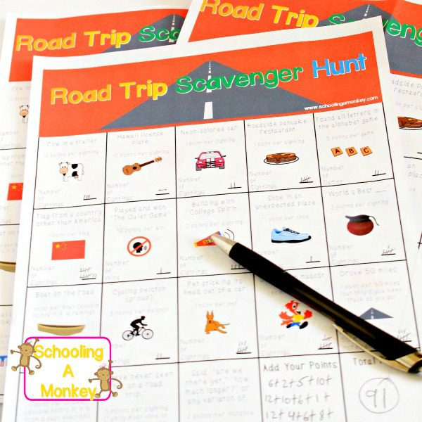 We we travel, I love finding quality games to play in the car for my kids. This Road Trip Scavenger Hunt Game is a great family road trip game!