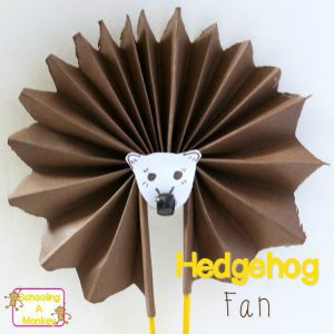 Summer Crafts for Kids: Hedgehog Craft Fan