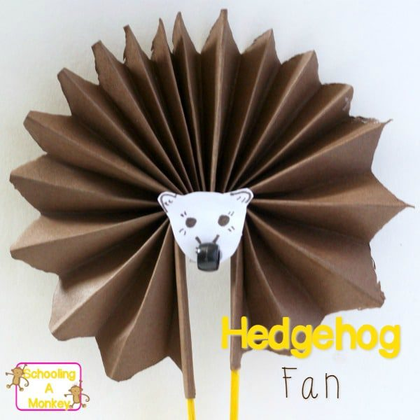 Easy Crafts for Kids: Hedgehog Craft Fan
