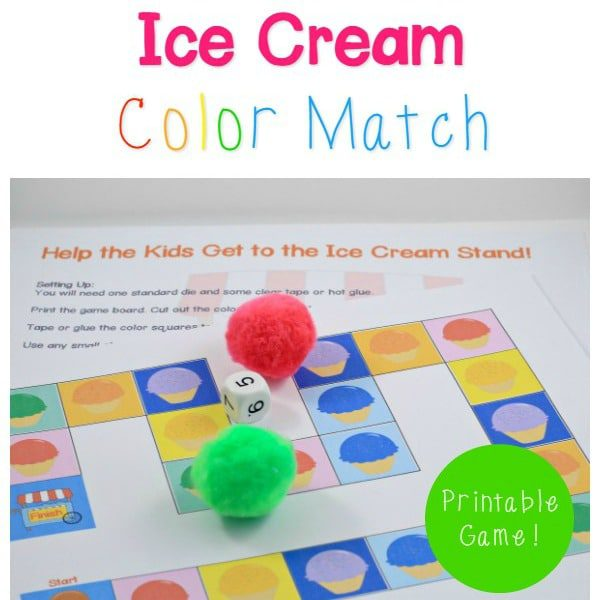 photo relating to Printable Match Game titled Ice Product Coloration Video game Video game