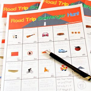 The road trip scavenger hunt printable game is a fun way to keep boredom at bay during road trips. It is one of the best games to play in the car!