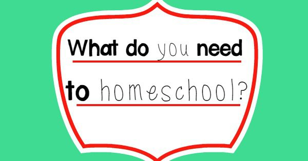 What do you need to homeschool? A vision, a child, and a question. But these things really help, too. So encouraging for new homeschooling families!