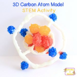 Hands-On STEM: 3D Carbon Atom Model