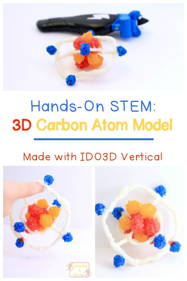 Use a 3D pen to create a 3D carbon atom model that looks just like the real thing! This STEM activity is suitable for kids of all ages. Sponsored by IDO3D.