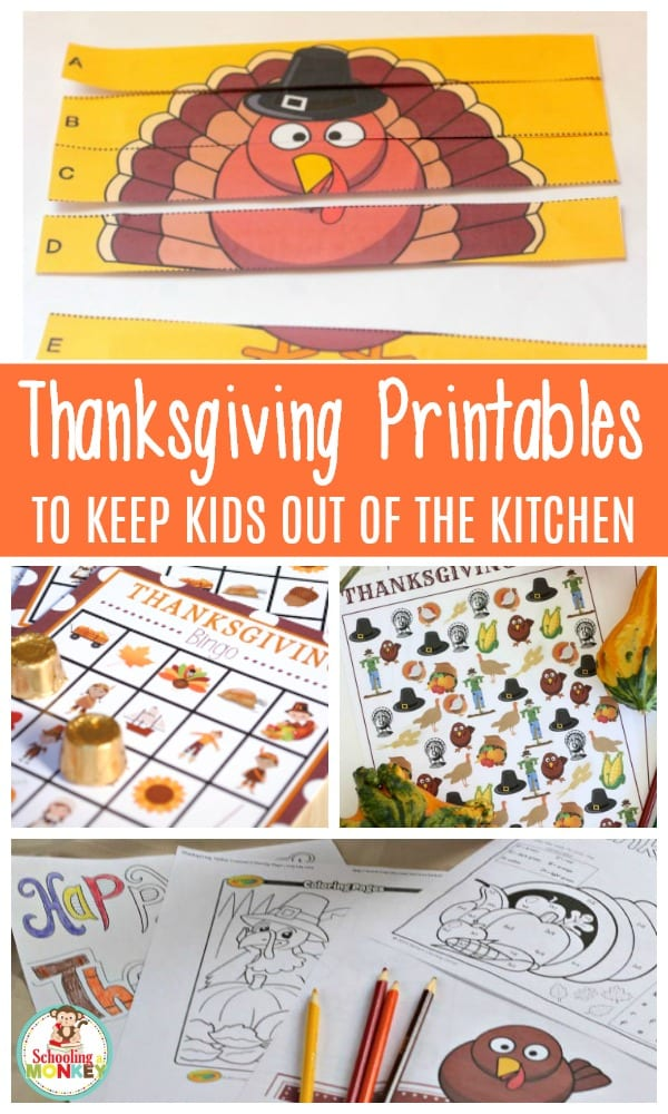 Make the Thanksgiving wait for dinner less agonizing with these fun educational Thanksgiving printables! TheThanksgiving printables for kids are too cute!