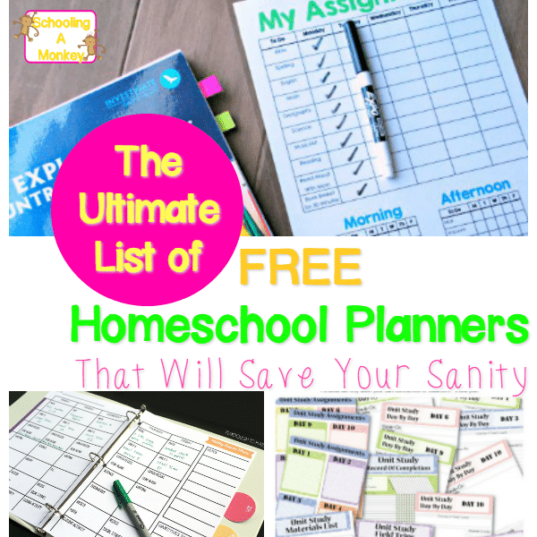 The Ultimate List of Quality FREE Printable Homeschool Planners