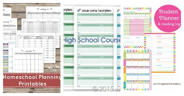photo relating to Free Printable Planners identified as The Best Record of Excellent No cost Printable Homeschool Planners