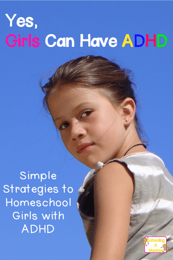 Daughter always distracted? She might be showing symptoms of ADHD in girls. Use these tips for smooth sailing when homeschooling a girl with ADHD.
