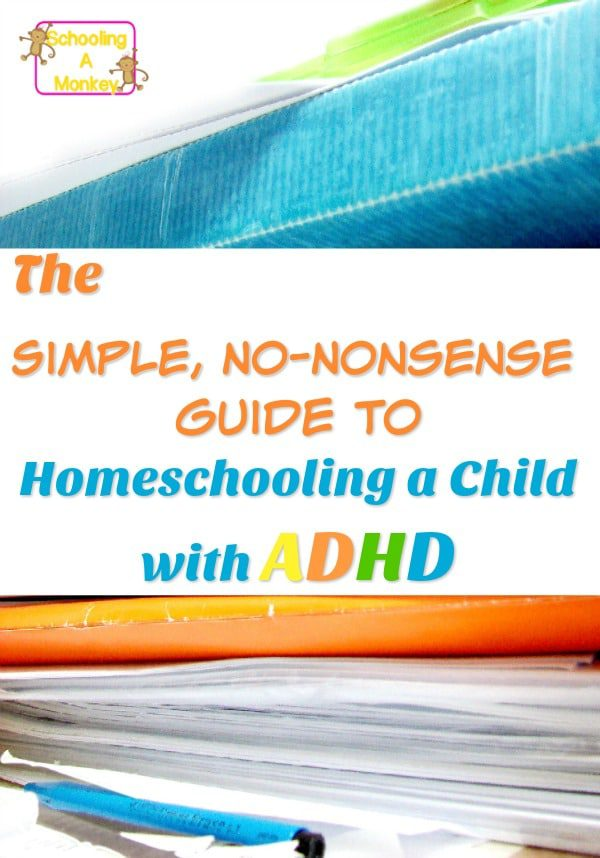 The simple, no-nonsense guide to homeschooling ADHD will help you get started homeschooling a child with ADHD. These ideas transform tears into smiles.