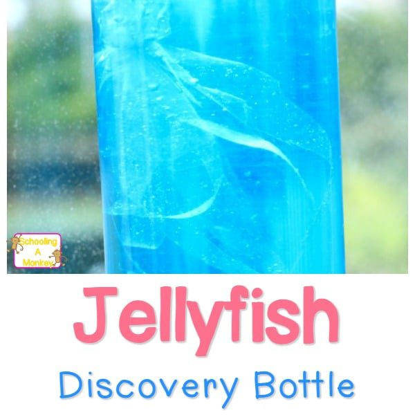 Make Your Own Jellyfish Discovery Bottle and you won't have to risk getting stung to enjoy the crazy-cool jellyfish. A perfect sensory activity for kids!