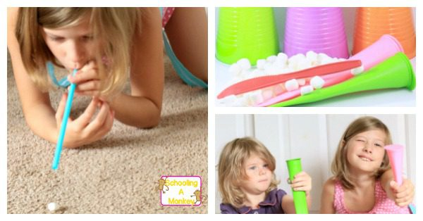 Looking for fun tween party games? These kids minute to win it games use marshmallows for inspired, simple, and indoor fun! Your kids will have a blast!
