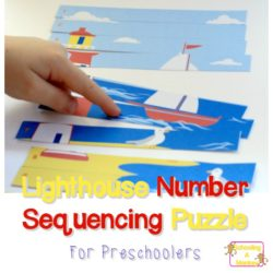 Numbers are Fun! Lighthouse Preschool Number Sequencing Puzzle