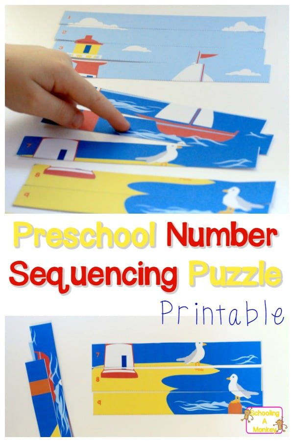 Teach preschoolers numbers easily with this printable Preschool Number Sequencing Puzzle featuring lighthouses! Hands-on preschool activities are the best