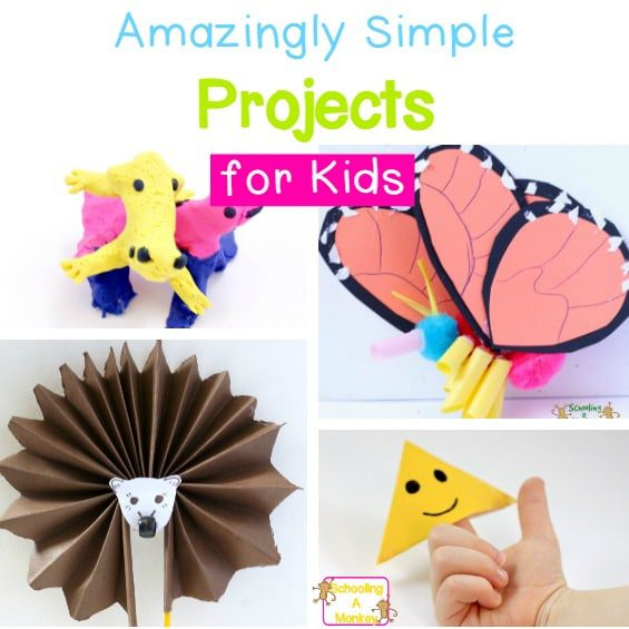 Looking for craft ideas for kids? These projects for kids are simple crafts for kids of all ages that you can do all year long! So many craft projects!