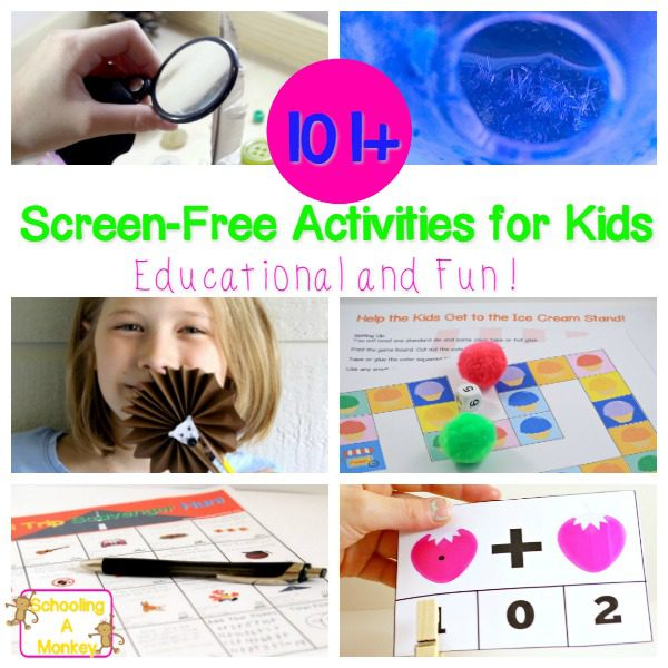 Looking for educational screen-free activities for kids? These scree-free activity ideas are perfect for adding a bit of educational fun to your day.