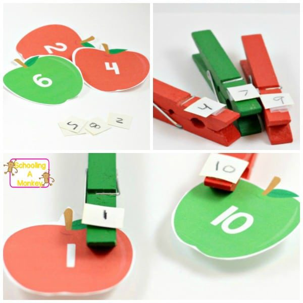 Looking for fun kindergarten math activities? Don't miss these fun apple-themed math printables that will provide hours of hands-on math fun.