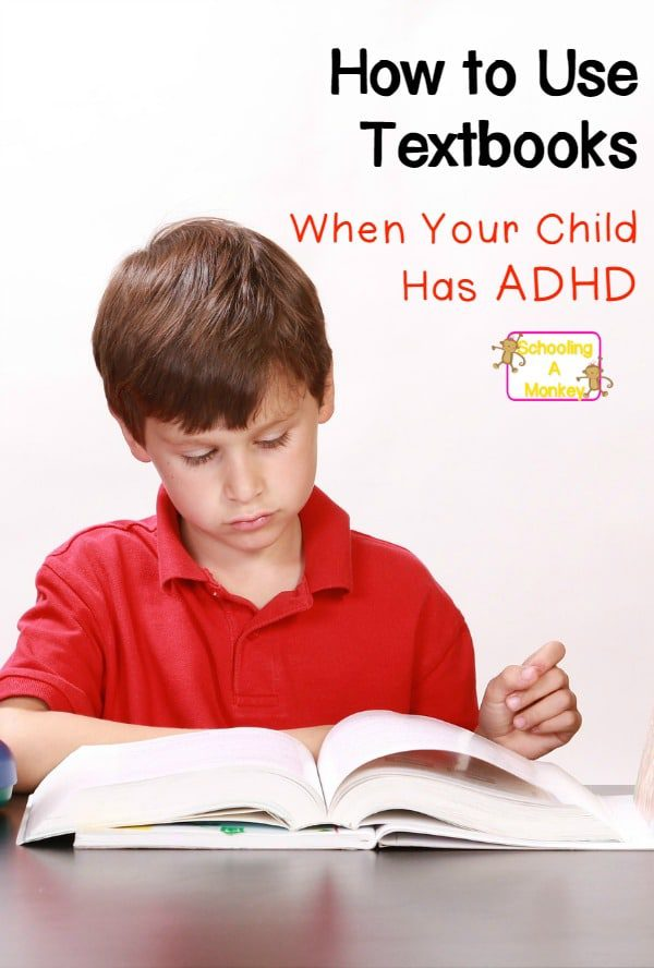 Most children with ADHD are hands-on learners, but if you must use a textbook with your ADHD child, these accommodations for ADHD can help!