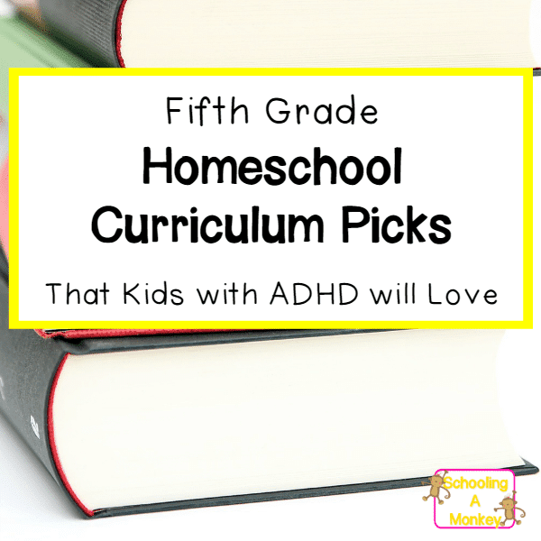 Looking for an ADHD curriculum that will work for boys and girls with ADHD? This 5th grade homeschool curriculum is perfect for motivating active learners.