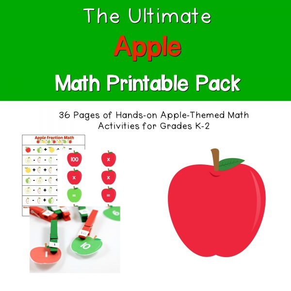 Why settle for boring flash cards when you can make math fun with this hands-on apple math pack! There are dozens of ways to use this fun math pack in a hands-on way that even kids who hate math will love.