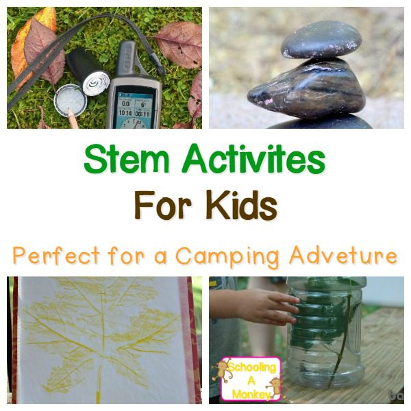 Camping with kids can be a challenge. Use these fun camping ideas to not only keep boredom at bay, but also to boost your kids STEM skills.