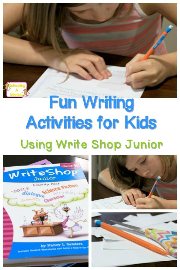 Race to see who can build a fable the fastest in these fun writing activities for kids who hate sitting still, writing, or anything to do with words.