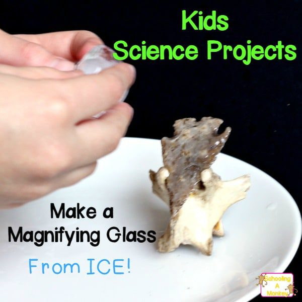 How to Make a Magnifying Glass- from ICE!