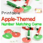 Kindergarten Math Activities: Apple Number Matching Game