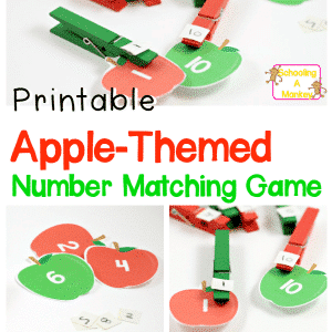 Kindergarten Math Activities: Apple Number Matching Game