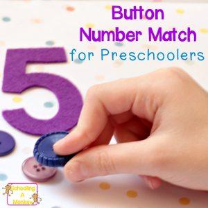 Preschool Activity Ideas: Hands-On Button Number Match