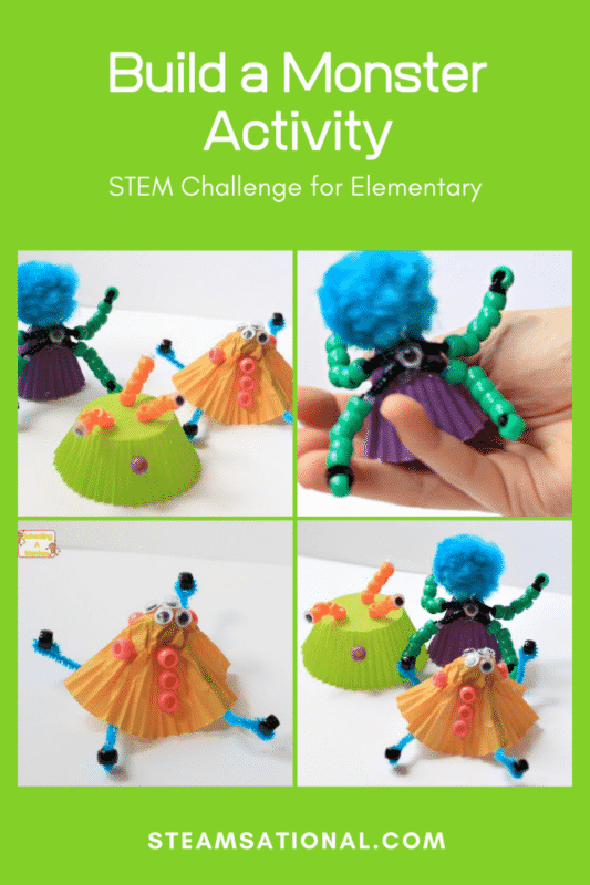 Bring engineering skills to life with this build a monster activity for kids! Make your own monster in a fun Halloween engineering challenge!