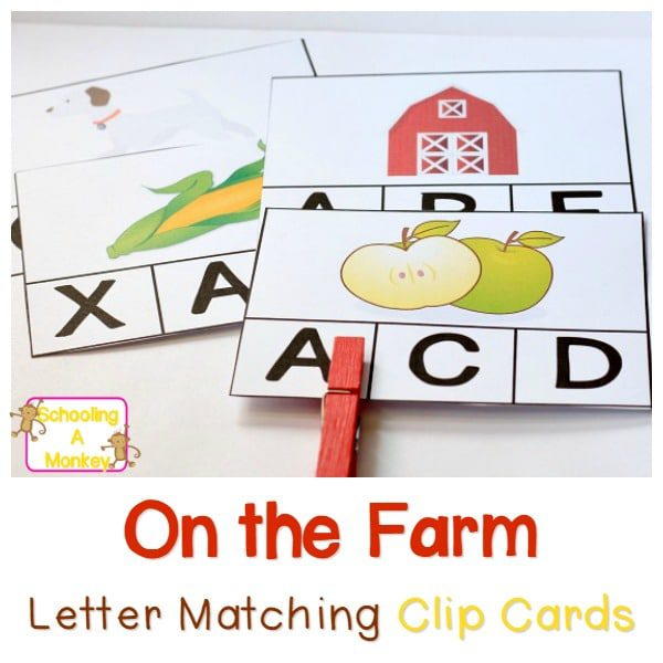 These farm activities clip cards are the perfect way to teach kindergartners and preschoolers about beginning sounds in a fun, hands-on way!