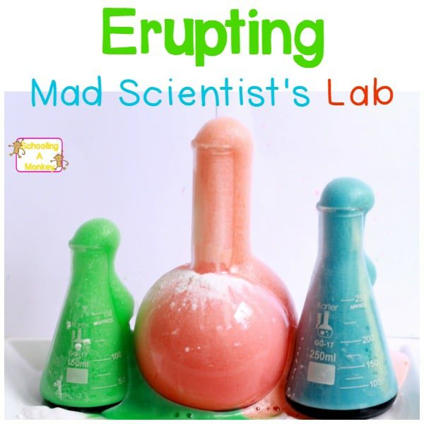 Halloween is the perfect time to celebrate the mad scientist in all of us. Try this fun erupting potion in your Halloween science lab. It is so easy!