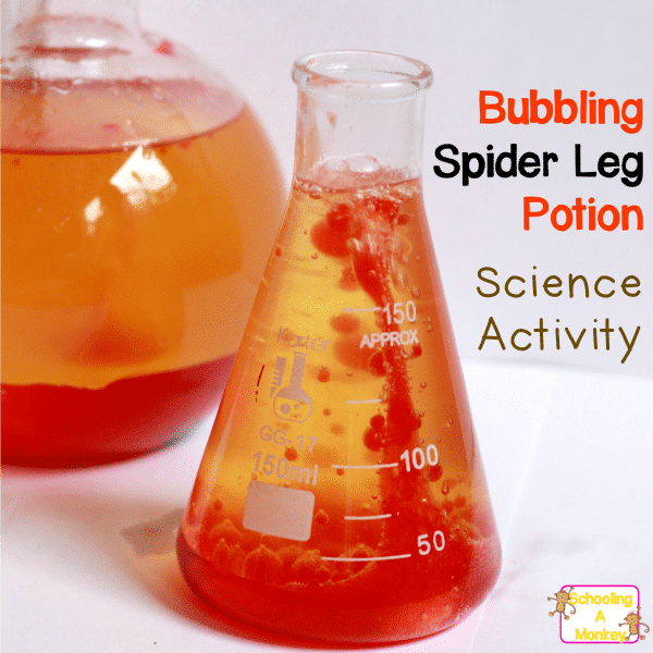 Halloween Science Projects: Bubbling Spider Leg Potion