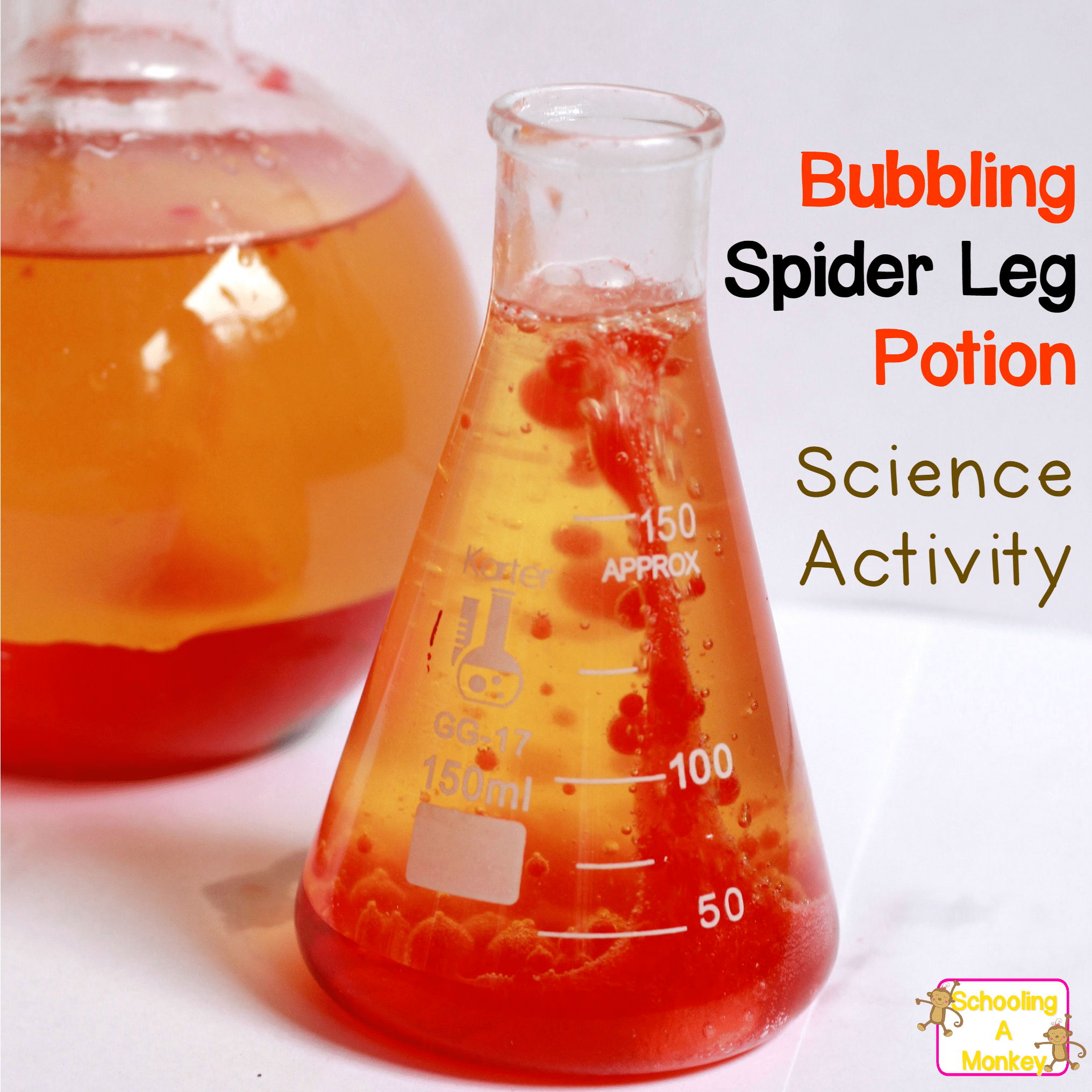 Halloween science projects are the perfect way to introduce science to kids. This spider leg potion is a creepy twist on a classic science experiment.