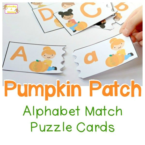 Pumpkin Patch Alphabet Match Puzzle Cards