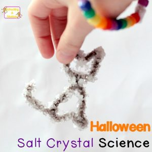 Witch-Inspired Salt Crystals Science Project for Halloween