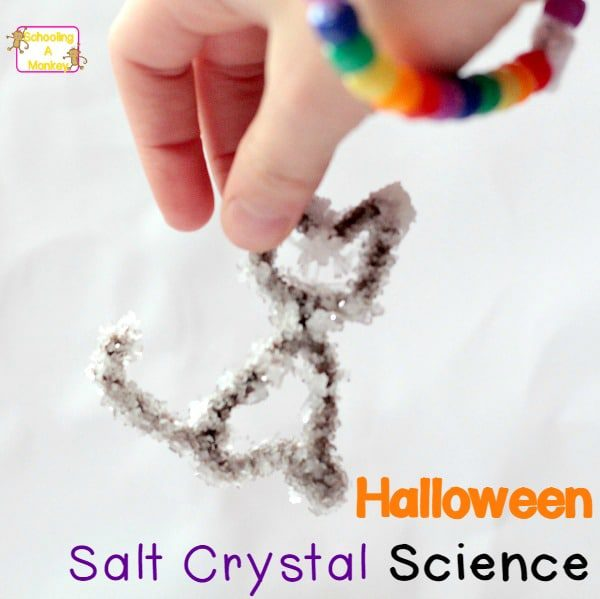If you love science AND you love Halloween, you'll love this witch-inspired take on the classic salt crystals science project! Kids will love it!