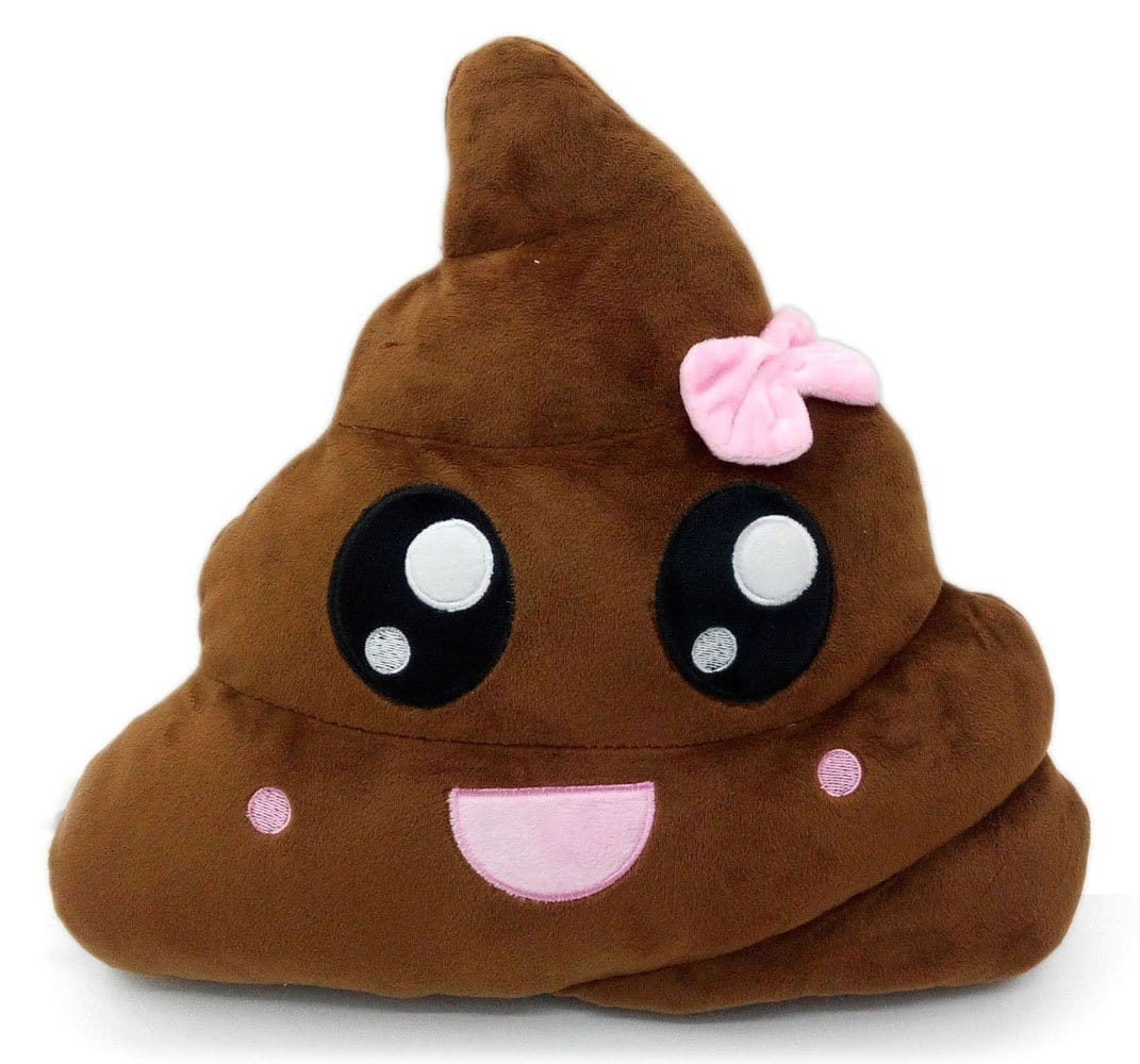 Gifts for 10 year old girls: Poop emoji pillow